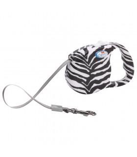 Laisse Enrouleur Animal Zebra Dogness 3 Mètres
