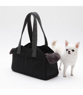 The Shoulder Bag Wool Black Onyx Louisdog