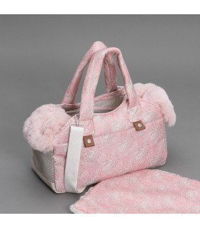 Tote Bag Liberty Picot Pink Louisdog