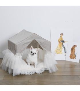 Linen Pekaboo Tutu Natural Louisdog