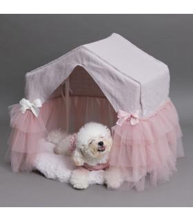 Linen Pekaboo Tutu Lavender Pink Louisdog
