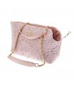 T1074-RA Sac en tweed rose Ferribiella