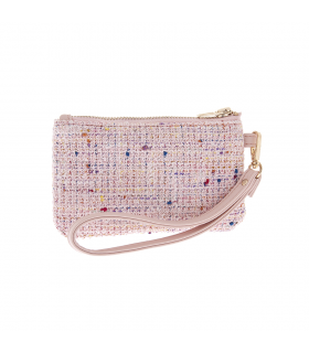 T1074-RA Sac en tweed rose Ferribiella