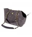 T1074-N Sac en Tweed Noir Ferribiella