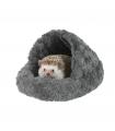 Panier Chausson Fuzzy Pour Rongeur Gris O'lalapets