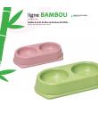 Gamelle Double pour chien en Bambou 1080.5 Record
