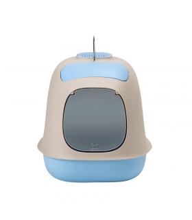 VS0500-TA Bac à litière Fermé Bleu United Pets