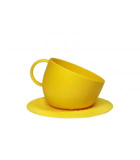 GV0162-GL Gamelle mug avec sous tasse Jaune United pets