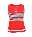 OP1814 Robe Marinière Nautical Rouge Puppia