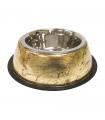 Gamelle en metal et vernis gold Croci
