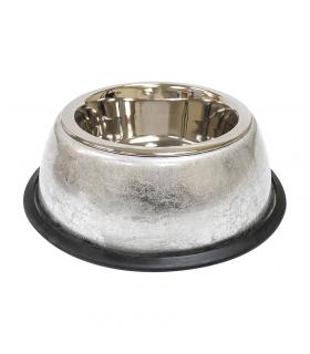 Gamelle en metal et vernis argenté Croci