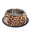 Gamelle En Metal Motif Leopard Croci