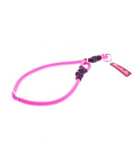 HI720 Collier Rond en Silicone Rose Fluo Ferribiella