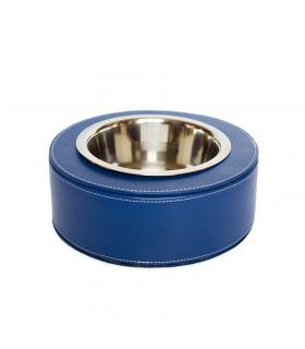 CIN127-B Gamelle Design en Simili Cuir Bleu Ferribiella