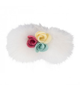 HP7378 Barrette Roselle Pinkaholic Ivory