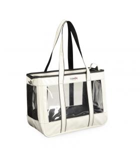 CA618/A Sac de Transport transparent et Vernis Blanc Camon