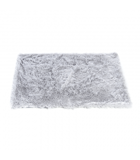 T1096 Couverture Duveteuse en fausse fourrure Grise Ferribiella