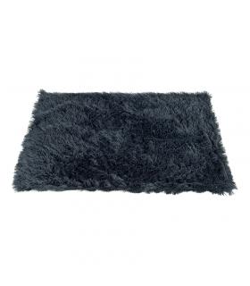 T1096 Couverture Duveteuse en fausse fourrure Anthracite Ferribiella