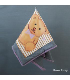 Couverture Honey Bear Blancket Dove Grey Louisdog