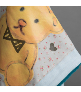 Couverture Honey Bear Blancket Spa Blue Louisdog