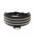 LDR011-N Collier Levrier en Simili Cuir Noir Dangerouge Ferribiella