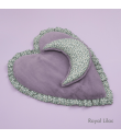Tapis Coeur Liberty n Eco Fur Heart Rug Royal Lilas Louisdog
