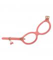 Harnais Lunette en Cuir Souple Coral Pink Buddy Belts