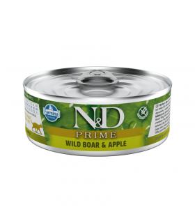 Repas Complet N&D Prime Saveur Sanglier /Pomme Chat Adulte Farmina