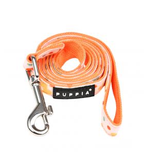 AL1910 Laisse En Tissu Fleuri Orange Vinca Puppia
