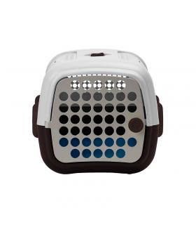 TP6001-BM Cage De Transport Marron Et Blanche United Pets