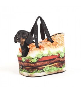 FW15213BLK Sac Foodtaste Dogbag I Love My Dog