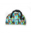 FW15256PK Sac Flower Power I Love My Dog Blue