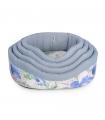 CC143 Corbeille Rigide à Fleurs Bleues Camon