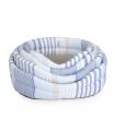 CC145 Corbeille Rigide À Rayures Bleu Camon