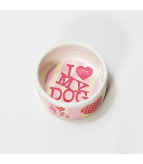 Gamelle céramique I love my dog