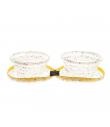CIO228 Gamelle de voyage double pliante confettis Ferribiella