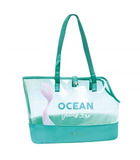 Sac de transport transparent Ocean Wave Croci