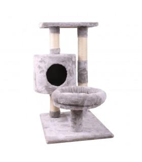 Arbre à chat 3 niveaux City Cat gris Freedog