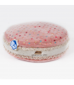 T958 Coussin Macarons Moelleux Rose Ferribiella
