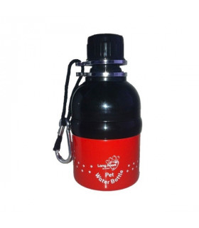 Gourde Long Paws PUPPY TRACKS RED- 250 ml