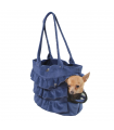 Sac London en Suedine Blue O lala Pets