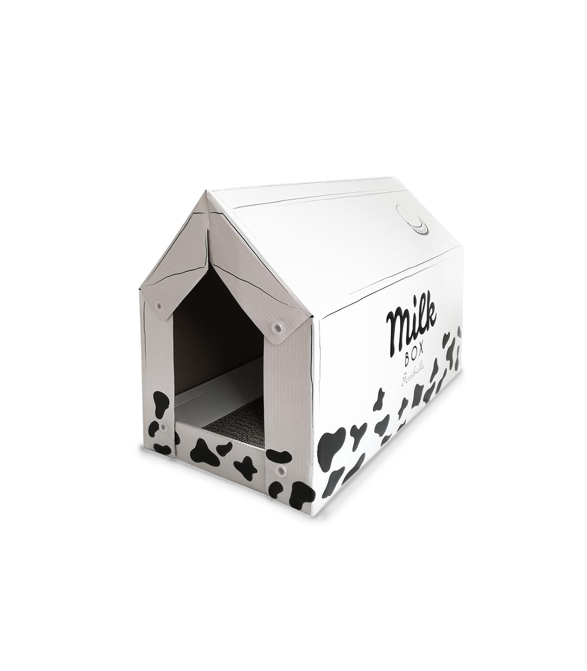 Griffoir Chat Carton Design gtt668 maison griffoir en carton pour chat ferribiella - un