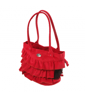 Sac London en Suedine Red O lala Pets