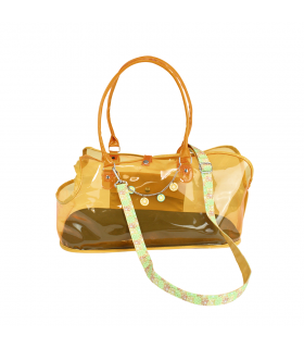 Sac D été Transparent Orange Fluo Citrus Croci
