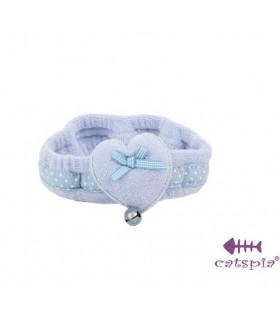 SC185 Neckwear Catspia Heart Blue