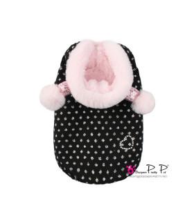 P0262-P Doudoune Pretty Pet Bom Bom Coat Pink