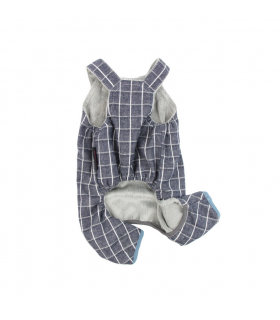 P0257-BL Jumper Pretty Pet Check Jumper Blue
