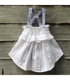 Robe Louisdog Sun Dress / W&B White