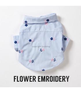 Chemise Louisdog Dress Shirt Flower
