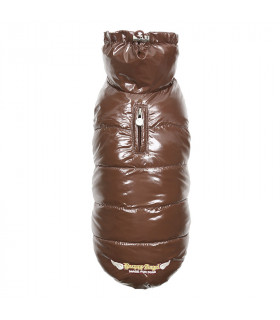 OW232 Doudoune Puppy Angel Love Down Vest With HighGrossy (Regular, Snap) 205 BROWN